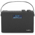 Nedis FM/DAB+ radio med bluetooth - 15W - Sort/sort