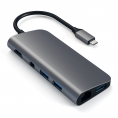 Satechi USB-C 3.1 Multi-Port hub - 4K - 8 vejs - Grå
