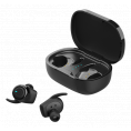 Streetz Stay-In-Ear Earbuds - Trådløst Opladningsetui - Sort
