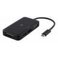 USB-C 3.1 hub HDMI/DP/DVI/VGA - 4K - Sort
