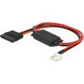 Intern Floppy adapter - 4 pin (5V) til SATA 15 pin (3.3V+5V)