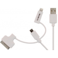 iPod / iPhone / iPad / Micro-B  - Multi USB kabel - Hvid -  1 m