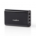 Nedis USB ladestation 230V - USB-A/USB-C - Sort
