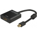 Delock Mini Displayport til HDMI - Aktiv - 4K - Sort - 0.20 m