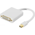 Mini Displayport til DVI Adapterkabel - 4K - Hvid - 0.15 m