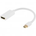 Mini Displayport til HDMI Adapterkabel - Hvid - 0.20 m