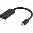 Mini Displayport til HDMI Adapterkabel - Sort - 0.20 m
