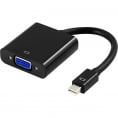 Mini Displayport til VGA Adapter - Sort