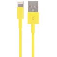 iPod / iPhone / iPad - Lightning USB kabel - Gul - 0.10 m