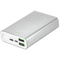 Puro - Power Bank - 2 x USB-A/USB-C - 15W - 10.000 mAh - Sølv