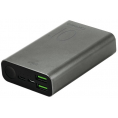 Puro - Power Bank - 2 x USB-A/USB-C - 15W - 10.000 mAh - Grå