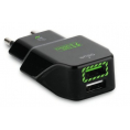 Puro - Fast Travel Charger USB - 2 x USB - 2.4A - Sort