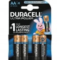 Duracell Ultra Power alkaline AA batteri - 4 stk.
