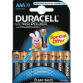 Duracell Ultra Power alkaline AAA batteri - 8 stk.