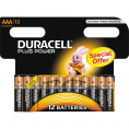 Duracell Plus Power alkaline AAA batteri - 12 stk.