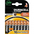 Duracell Plus Power alkaline AAA batteri - 16 stk.