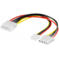 "Intern splitter adapter - 4-pin 5.25"" til 5.25"" + 3.5"" floppy"