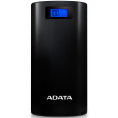 ADATA Powerbank - 2 x USB - 20.000 mAh - Sort