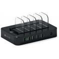 Satechi USB Charging Station Dock - 5-Port - Sort