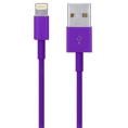 iPod / iPhone / iPad - Lightning USB kabel - Lilla - 0.10 m