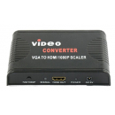 VGA + 3.5 mm minijack til HDMI Scaler