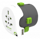 Q2Power Verden travel adapter med 1 x USB