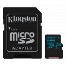 Kingston Canvas Go UHS-I U3 Micro SDXC kort - 64GB - Class 10