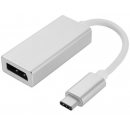 USB-C 3.1 til Displayport adapter - 4K - Sølv
