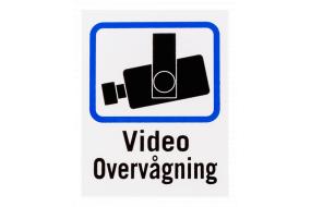 kamera overvågnings skilte