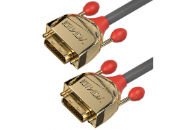 Lindy High End DVI-D Dual Link kabel - Gold Line - 3 m