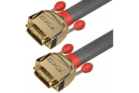 Lindy High End DVI-D Dual Link kabel - Gold Line - 15 m