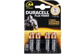Duracell Plus Power alkaline AA batteri - 4 stk.