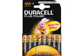 Duracell Plus Power alkaline AAA batteri - 8 stk.