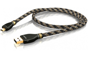 ViaBlue KR-2 Silver High End A/Mini-B USB audio kabel - 0.5 m